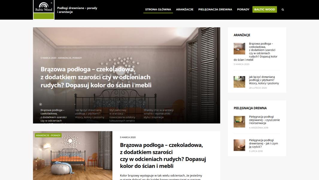 Projektowanie stron - Blog Balticwood