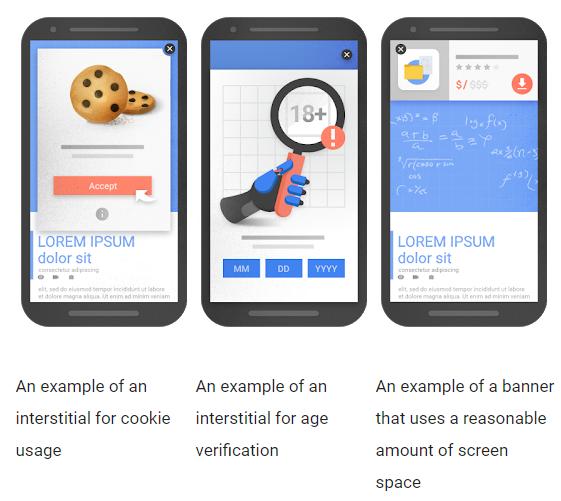 Dobry przykład okienka pop-up ijego wpływ nawyszukiwanie wwynikach mobile wwyszukiwarce Google