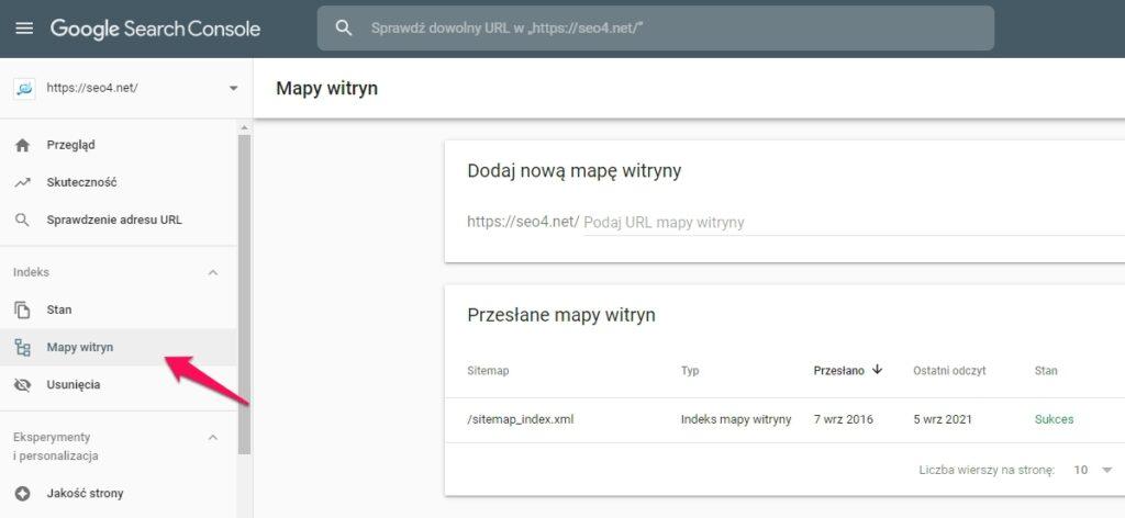 Jak dodać stronę dowyszukiwarki Google przesyłając mapę witryny