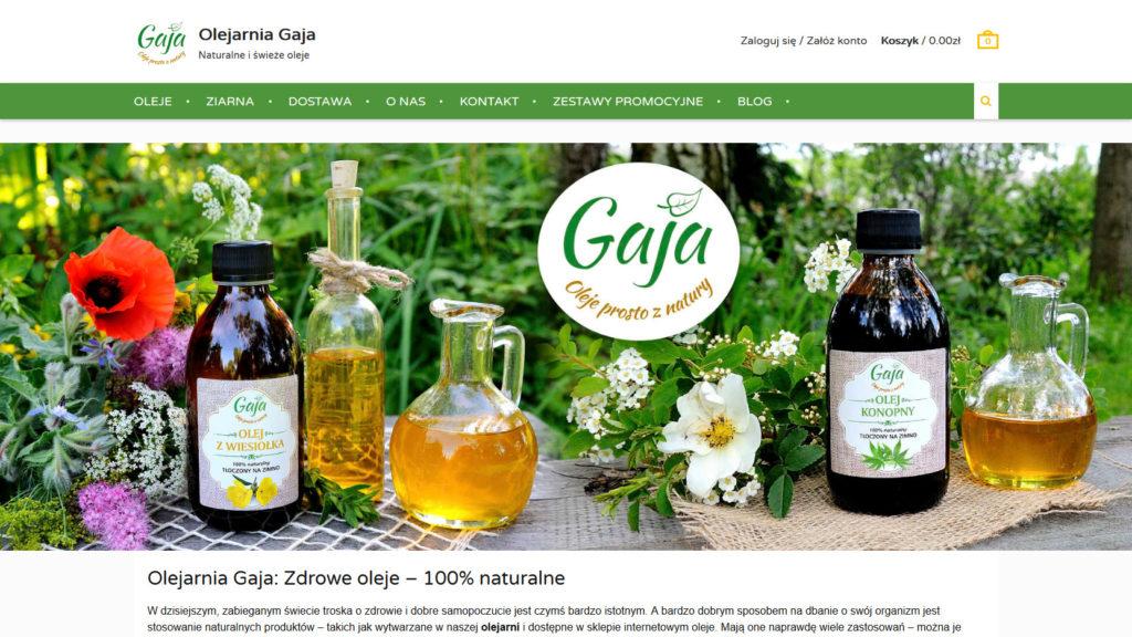 Projektowanie stron www - Olejarnia Gaja