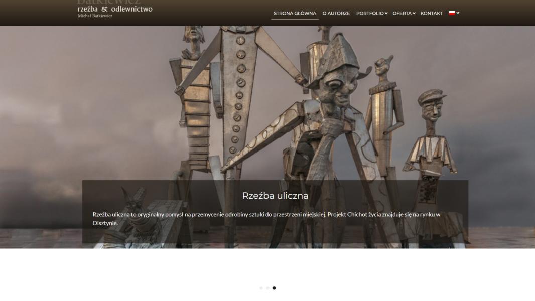 Projektowanie stron internetowych - Michał Batkiewicz Rzeźba