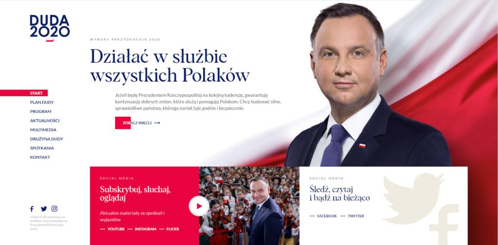 andrzejduda.pl - widok strony głównej