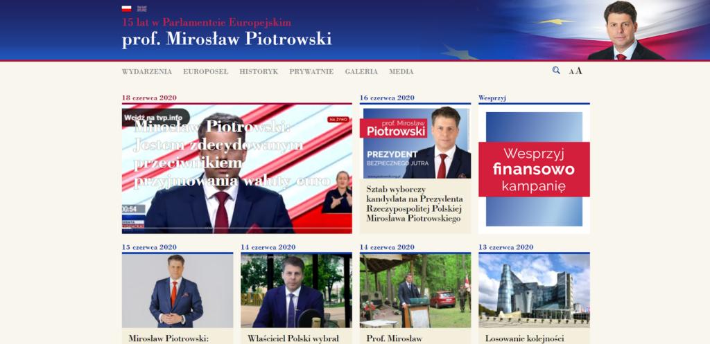 piotrowski.org.pl - widok strony głównej