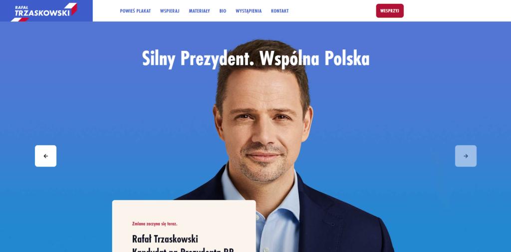 trzaskowski2020.pl - widok strony głównej
