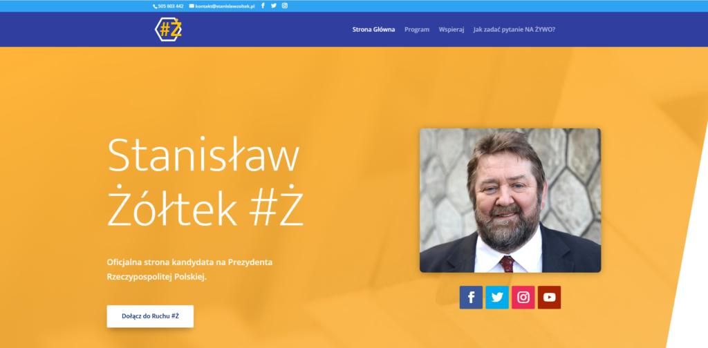 stanislawzoltek.pl - widok strony głównej
