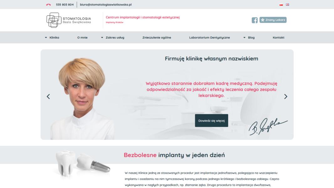 Tworzenie stron internetowych - Stomatologia Świątkowska