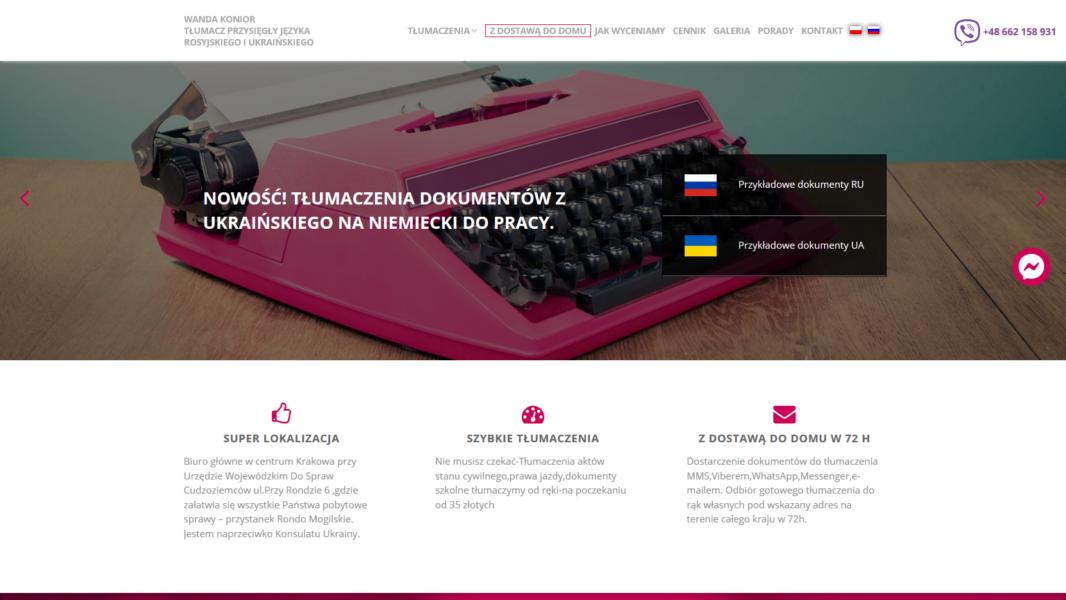 Tworzenie stron www - Tłumaczalnia