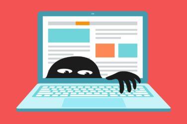 Wirus w laptopie, efekt złośliwego oprogramowania, nieuwagi użytkownika lub braku zabezpieczeń