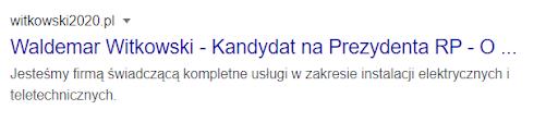witkowski2020.pl - widok meta description