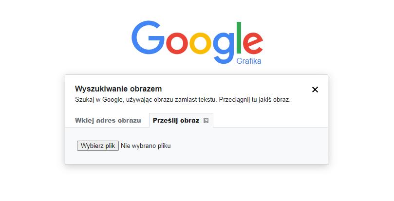 Wyszukiwanie obrazem wGoogle Grafika zapomocą adresu URL