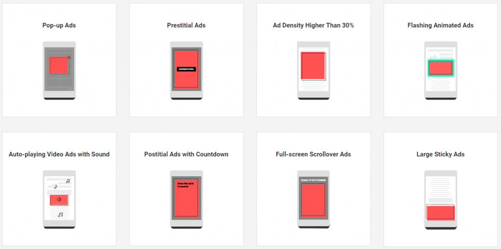 Reklamy blokowane przezchrome iadblock naurządzeniach mobile