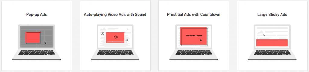 Reklamy blokowane przezchrome iadblock